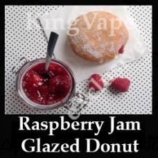Raspberry Jam Glazed Donut