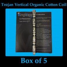 Trojan Vertical Organic Cotton Coil Box of 5