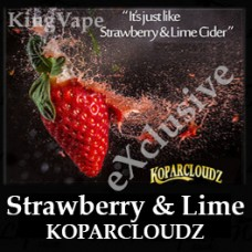 DIwhY Strawberry and Lime KoppacloudZ - Same Flavour Volume Saver (120ml, 210ml and 300ml)